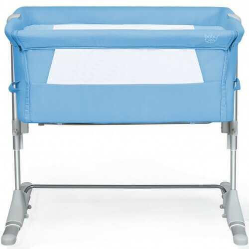 Travel Portable Baby Bed Side Sleeper  Bassinet Crib with Carrying Bag-Blue - Color: Blue - NorCal Cyber Sales