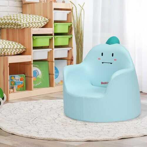 Kids Cartoon Sofa Seat Toddler Children Armchair Couch-Blue - Color: Blue - NorCal Cyber Sales