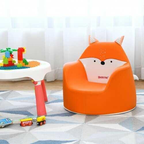 Kids Cartoon Sofa Seat Toddler Children Armchair Couch-Orange - Color: Orange - NorCal Cyber Sales