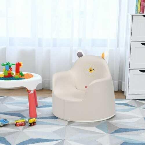 Kids Cartoon Sofa Seat Toddler Children Armchair Couch-White - Color: White - NorCal Cyber Sales