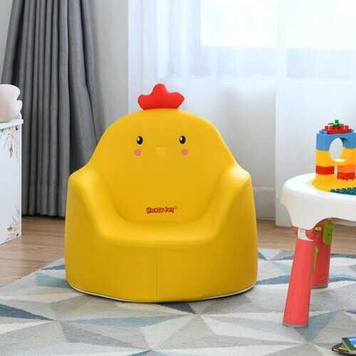 Kids Cartoon Sofa Seat Toddler Children Armchair Couch-Yellow - Color: Yellow - NorCal Cyber Sales