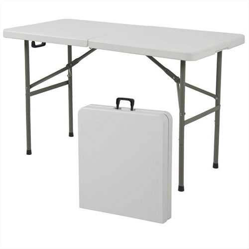 Multipurpose 4-Foot Center Folding Table with Carry Handle - NorCal Cyber Sales