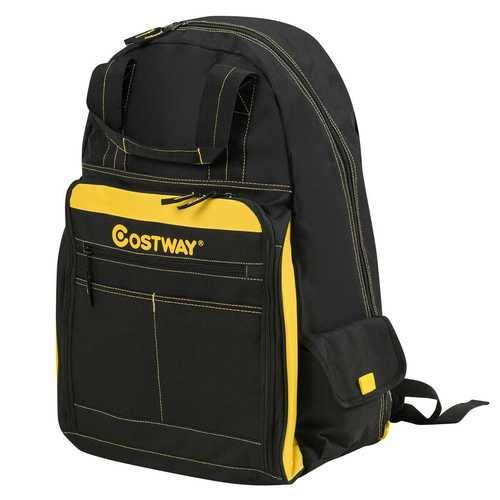 Tool Backpack Heavy Duty Jobsite Tool Bag 48 Pockets - NorCal Cyber Sales