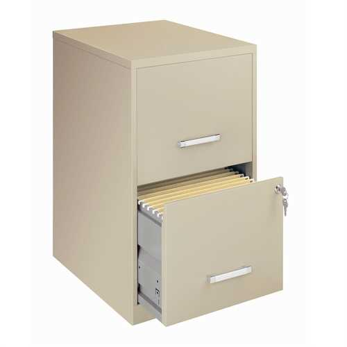 Locking 2-Drawer Vertical File Cabinet in Putty Color - NorCal Cyber Sales