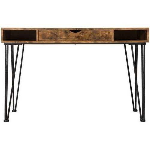 Farmhouse Rustic Home Office 1 Drawer Writing Desk - NorCal Cyber Sales