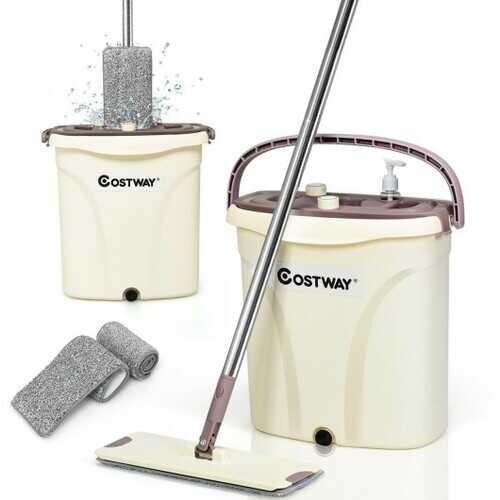 Flat Squeeze Mop and Bucket Set - NorCal Cyber Sales