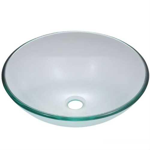 Crystal Clear Tempered Glass Round Bathroom Vessel Sink - NorCal Cyber Sales