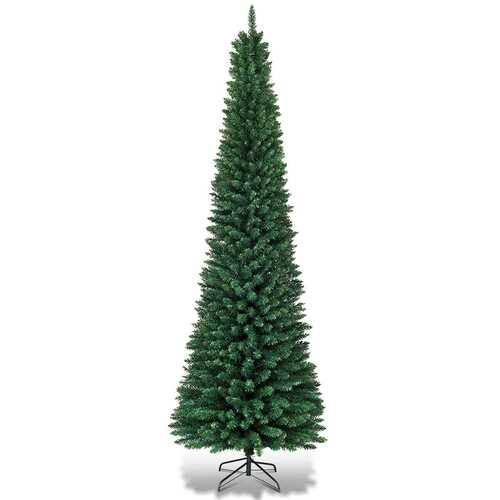 PVC Artificial Slim Pencil Christmas Tree-9' - Size: 9' - NorCal Cyber Sales