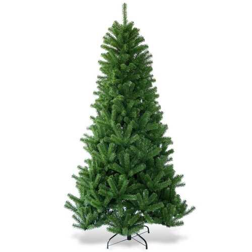 Encryption Premium PVC Artificial Christmas Tree with Metal Stand-7' - Color: Green - Size: 7' - NorCal Cyber Sales