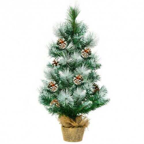 "24"" Snow Flocked Artificial Christmas Tree - NorCal Cyber Sales"