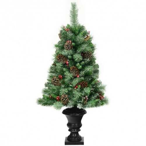 4 ft Christmas Entrance Tree with Pine Cones - NorCal Cyber Sales
