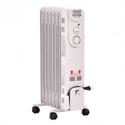 1500 W Electric Portable Oil Filled Radiator Space Heater with 3 Heat Settings - NorCal Cyber Sales