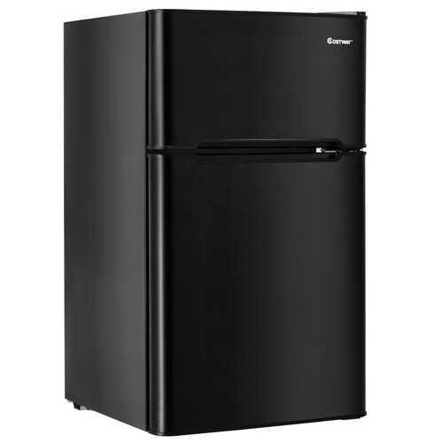 3.2 cu ft. Compact Stainless Steel Refrigerator-Black - Color: Black - NorCal Cyber Sales