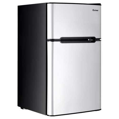 3.2 cu ft. Compact Stainless Steel Refrigerator-Gray - Color: Gray - NorCal Cyber Sales