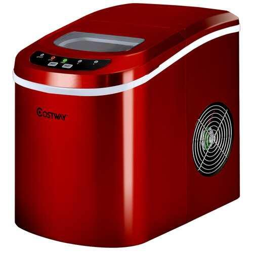 Mini Portable Compact Electric Ice Maker Machine-Red - Color: Red - NorCal Cyber Sales