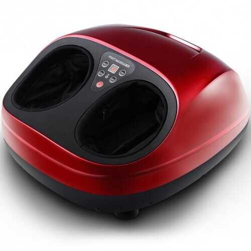Shiatsu Deep Kneading Foot Massager with Heat Rolling - Color: Red - NorCal Cyber Sales