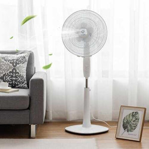 "Fantask 16"" 3 Speed Double Blades Oscillating Pedestal Fan-White - Color: White - NorCal Cyber Sales"