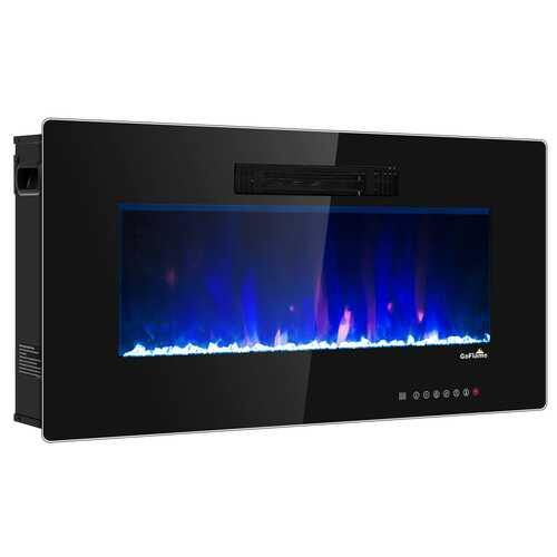 "Recessed Wall Mounted Standing Electric Heater Electric Fireplace-36"" - Size: 36"" - NorCal Cyber Sales"