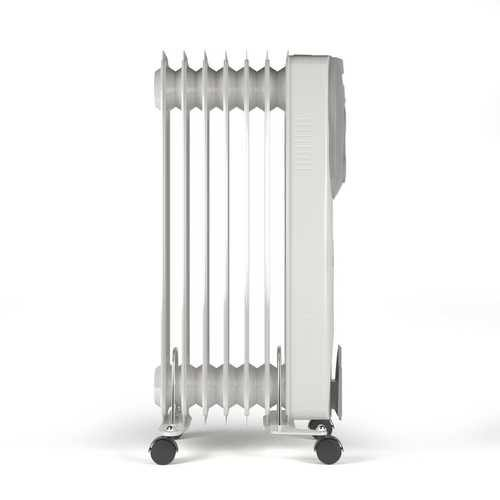 1500 W Portable Oil-Filled Electric Space Radiator Heater with Overheat Protection - NorCal Cyber Sales