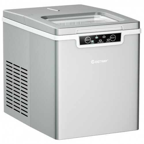 26Lbs/24H Portable Ice Maker Machine Countertop   - Color: Silver - NorCal Cyber Sales