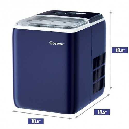 44 lbs Portable Countertop Ice Maker Machine with Scoop-Navy - Color: Navy - NorCal Cyber Sales