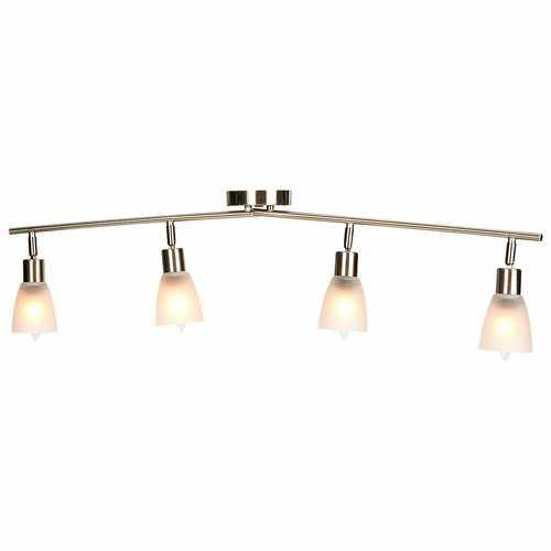 4-Light Track Light Rotatable Glass Shade Chandelier lamp - NorCal Cyber Sales