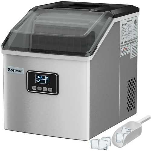 48 Lbs Stainless Self-Clean Ice Maker with LCD Display - NorCal Cyber Sales