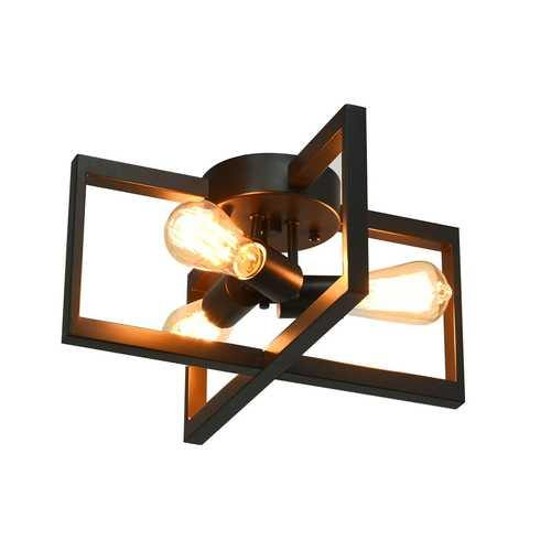Flush Mount Geometric Metal 3-Lights Ceiling Lamp - NorCal Cyber Sales