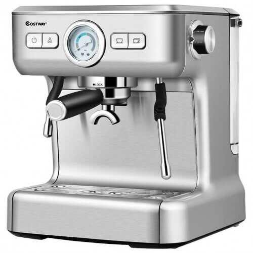15 Bar Semi-Auto Espresso Coffee Maker Machine with Milk Frother Steam Wand - NorCal Cyber Sales
