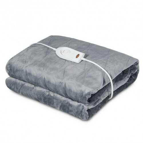 Flannel Electric Blanket Heated Throw with 3 Heat Settings - NorCal Cyber Sales