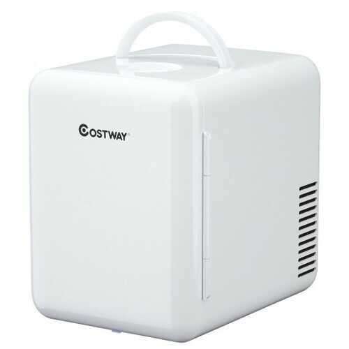 4 Liter Mini Cooler Warmer Fridge Portable-White - Color: White - NorCal Cyber Sales