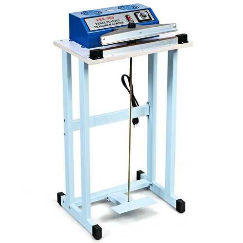 "110V 12"" Foot Pedal Impulse Sealer Machine with Cutter - NorCal Cyber Sales"