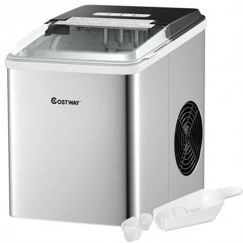 Stainless Steel 26 lbs/24 H Self-Clean Countertop Ice Maker Machine - NorCal Cyber Sales
