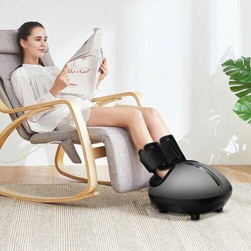 Foot Massager Machine with Heat and Calf Air Bag-Black - Color: Black - NorCal Cyber Sales