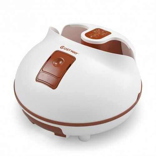 Steam Foot Spa Bath Massager Foot Sauna Care with Heating Timer Electric Rollers-Brown - Color: Brown - NorCal Cyber Sales