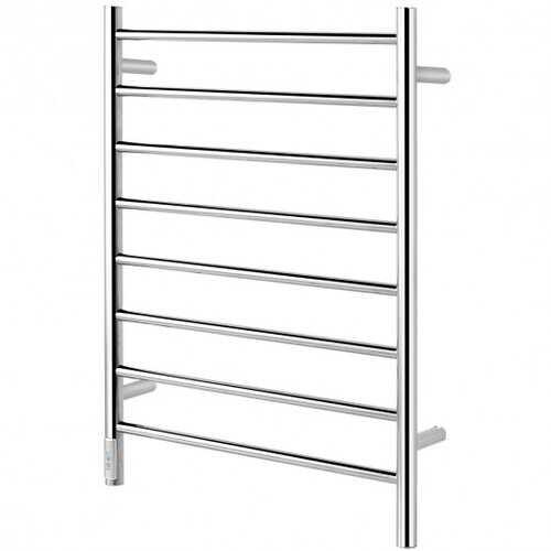 8-Bar Wall Mounted Towel Warmer Stainless Steel Towel Rack - Color: Silver - NorCal Cyber Sales