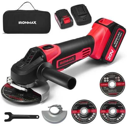 20V Cordless Angle Grinder with 4.0 Ah Lithium-Ion Battery and Charger - NorCal Cyber Sales