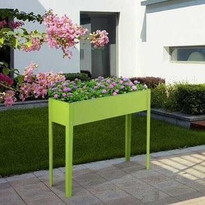"40"" x 13"" Outdoor Elevated Garden Plant Flower Bed - Color: Green - NorCal Cyber Sales"