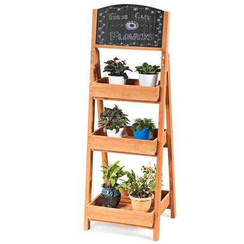 Wooden Sidewalk Menu Chalkboard Sign Display Shelves - NorCal Cyber Sales