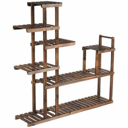 7-Tier Flower Wood Stand Plant Display Rack Storage Shelf - NorCal Cyber Sales