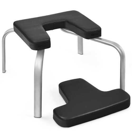 Yoga Iron Headstand Bench w/ PVC Pads for Family Gym-Black - Color: Black - NorCal Cyber Sales