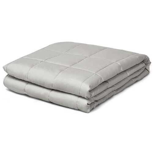 15 lbs Weighted Blankets with Glass Beads Light-Light Gray - Color: Light Gray - NorCal Cyber Sales