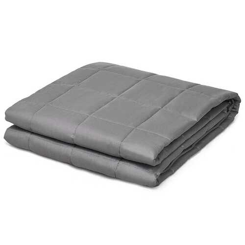 17 lbs Weighted 100% Cotton Blankets-Gray - Color: Gray - NorCal Cyber Sales