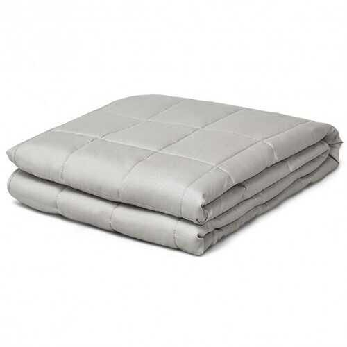 17 lbs Weighted 100% Cotton Blankets-Light Gray - Color: Light Gray - NorCal Cyber Sales