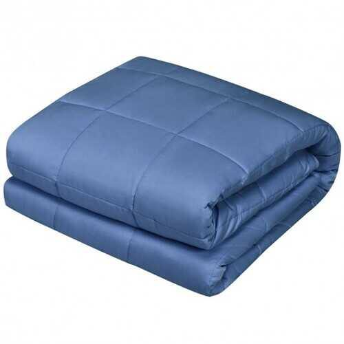 "60""x80"" 15lbs Premium Cooling Heavy Weighted Blanket -Blue - Color: Blue - NorCal Cyber Sales"