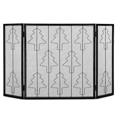 3 Panel Folding Steel Fireplace Screen - NorCal Cyber Sales