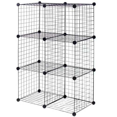 DIY 6 Metal Wire Free Standing Modular Storage Cubes - NorCal Cyber Sales