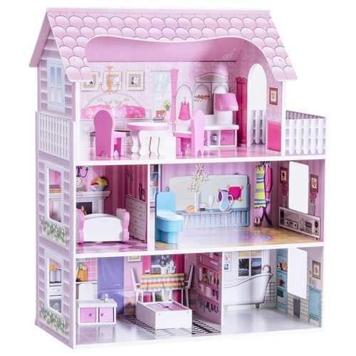 "28"" Pink Dollhouse w/ Furniture - NorCal Cyber Sales"