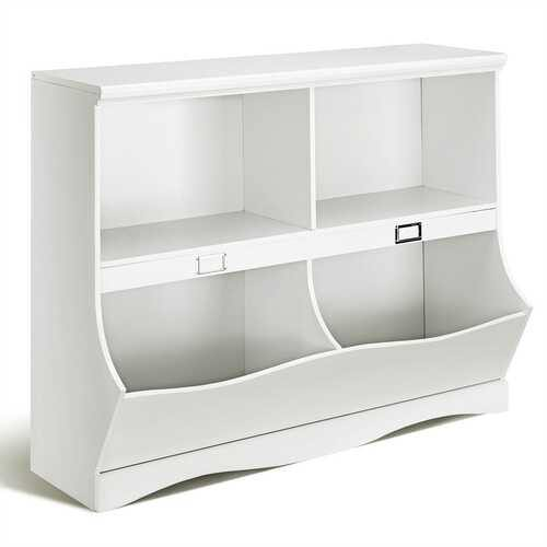 Kids Storage Unit Baby Toy Organizer Children Bookshelf Bookcase-White - Color: White - NorCal Cyber Sales