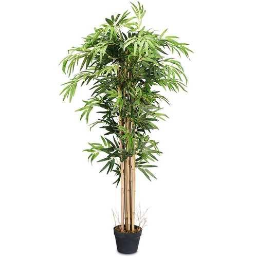 5-Feet Artificial Bamboo Silk Tree Indoor-Outdoor Decorative Planter - NorCal Cyber Sales